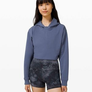 Lululemon All Yours Cropped Hoodie Ink Blue sz10